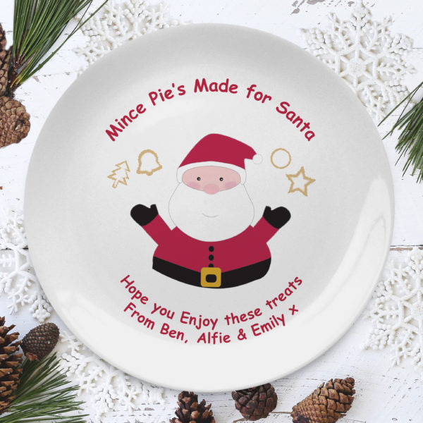 Mince Pies for Santa 8″ Coupe Plate
