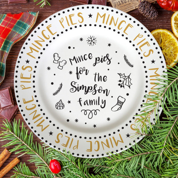 Mince Pie Recipe 10″ Rimmed Plate
