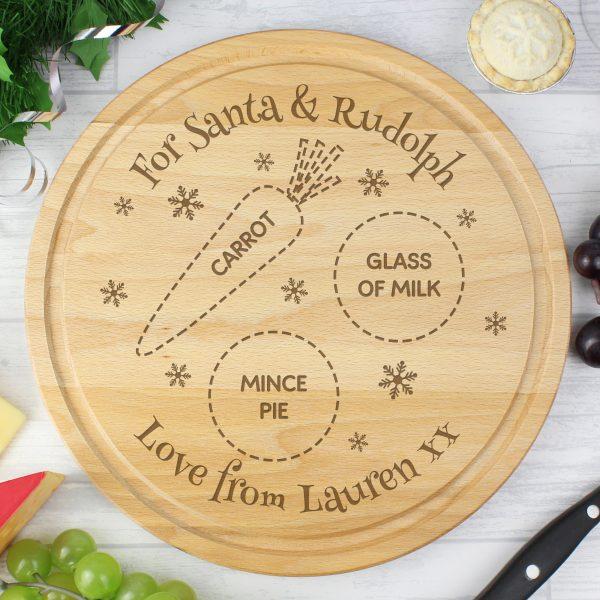 Christmas Eve Round Treats Board