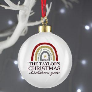 Personalised Christmas Lockdown Year Bauble
