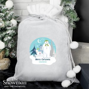 The Snowman and the Snowdog Pom Pom Sack