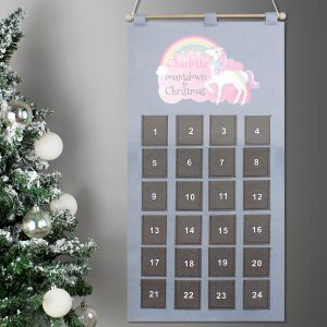 Personalised Christmas Unicorn Advent Calendar