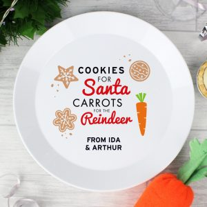 Cookies for Santa Christmas Eve Plastic Plate