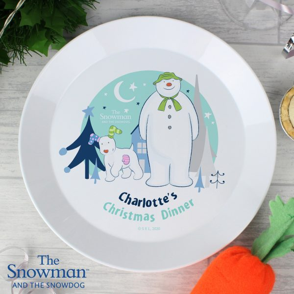 The Snowman and the Snowdog Plastic Plate
